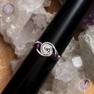 Amethyst Sterling Silver Galaxy Wire Wrapped Ring